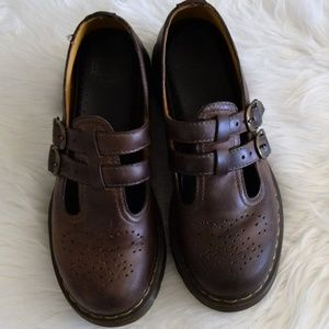 Dr. Martens Brown Mary Janes
